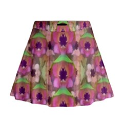 It Is Lotus In The Air Mini Flare Skirt by pepitasart