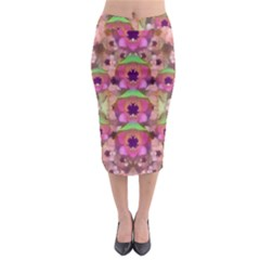 It Is Lotus In The Air Midi Pencil Skirt by pepitasart