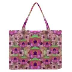 It Is Lotus In The Air Medium Zipper Tote Bag by pepitasart