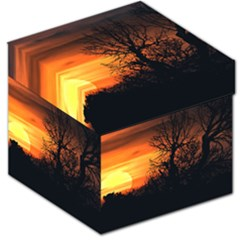 Sunset At Nature Landscape Storage Stool 12   by dflcprints