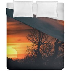 Sunset At Nature Landscape Duvet Cover Double Side (california King Size) by dflcprints
