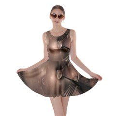 A Fractal Image In Shades Of Brown Skater Dress