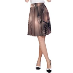 A Fractal Image In Shades Of Brown A Line Skirt