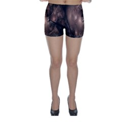 A Fractal Image In Shades Of Brown Skinny Shorts by Nexatart