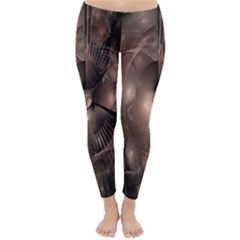 A Fractal Image In Shades Of Brown Classic Winter Leggings by Nexatart