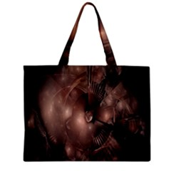 A Fractal Image In Shades Of Brown Zipper Mini Tote Bag by Nexatart