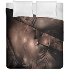 A Fractal Image In Shades Of Brown Duvet Cover Double Side (california King Size) by Nexatart