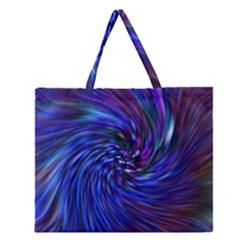 Stylish Twirl Zipper Large Tote Bag by Nexatart