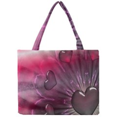 Love Hearth Background Wallpaper Mini Tote Bag