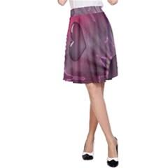 Love Hearth Background Wallpaper A Line Skirt