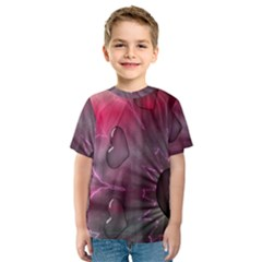 Love Hearth Background Wallpaper Kids  Sport Mesh Tee