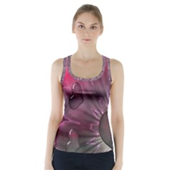 Love Hearth Background Wallpaper Racer Back Sports Top