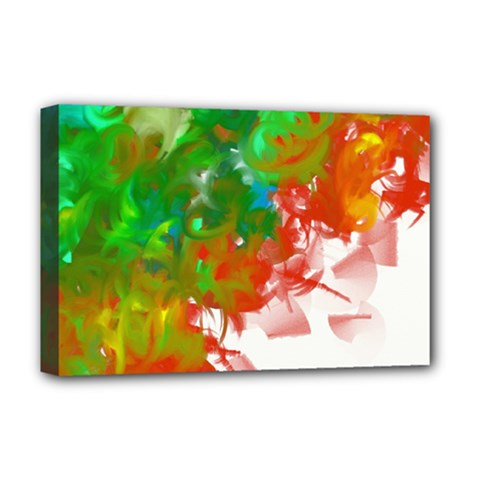 Digitally Painted Messy Paint Background Textur Deluxe Canvas 18  X 12