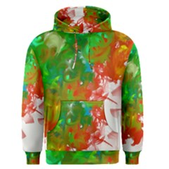 Digitally Painted Messy Paint Background Textur Men s Pullover Hoodie
