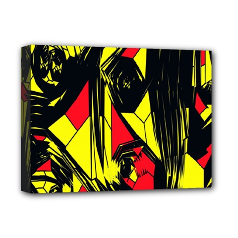 Easy Colors Abstract Pattern Deluxe Canvas 16  X 12   by Nexatart