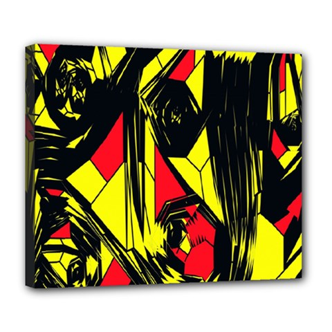 Easy Colors Abstract Pattern Deluxe Canvas 24  X 20