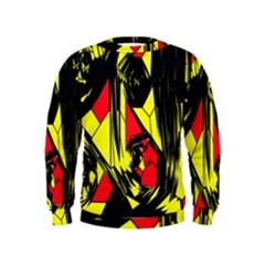 Easy Colors Abstract Pattern Kids  Sweatshirt