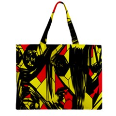 Easy Colors Abstract Pattern Zipper Mini Tote Bag by Nexatart