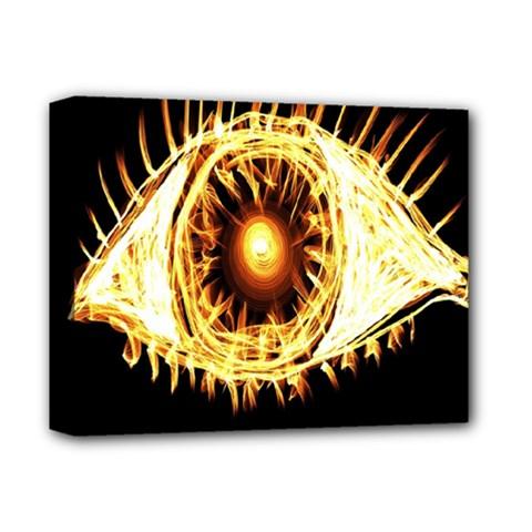 Flame Eye Burning Hot Eye Illustration Deluxe Canvas 14  X 11  by Nexatart