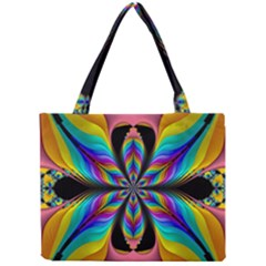Fractal Butterfly Mini Tote Bag by Nexatart