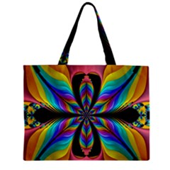 Fractal Butterfly Zipper Mini Tote Bag by Nexatart