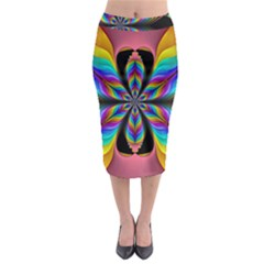 Fractal Butterfly Midi Pencil Skirt by Nexatart