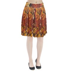 Abstraction Abstract Pattern Pleated Skirt