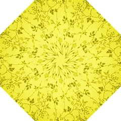 Flowery Yellow Fabric Hook Handle Umbrellas (large)