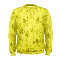 Flowery Yellow Fabric Men s Sweatshirt