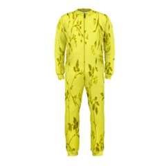 Flowery Yellow Fabric Onepiece Jumpsuit (kids) by Nexatart