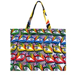 The Eye Of Osiris As Seen On Mediterranean Fishing Boats For Good Luck Zipper Large Tote Bag by Nexatart