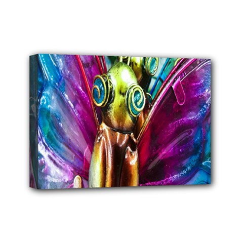 Magic Butterfly Art In Glass Mini Canvas 7  x 5  by Nexatart