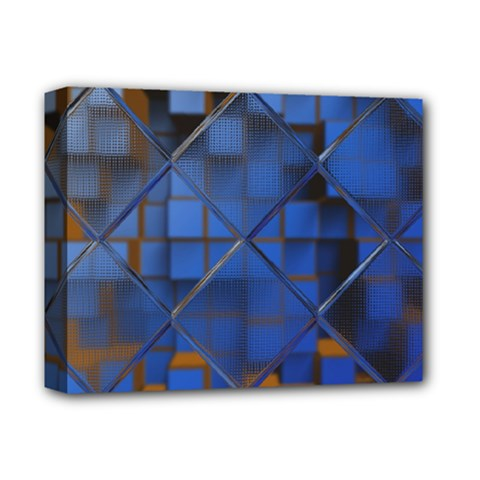 Glass Abstract Art Pattern Deluxe Canvas 14  X 11  by Nexatart