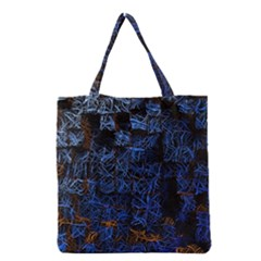 Background Abstract Art Pattern Grocery Tote Bag