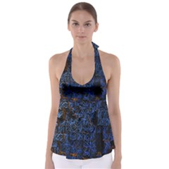Background Abstract Art Pattern Babydoll Tankini Top