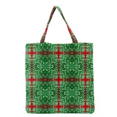 Geometric Seamless Pattern Digital Computer Graphic Grocery Tote Bag