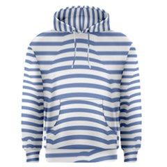 Animals Illusion Penguin Line Blue White Men s Pullover Hoodie by Mariart
