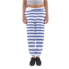 Animals Illusion Penguin Line Blue White Women s Jogger Sweatpants by Mariart