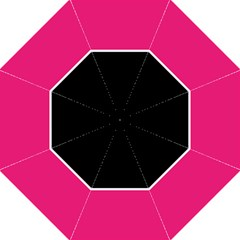 Black Pink Line White Folding Umbrellas by Mariart