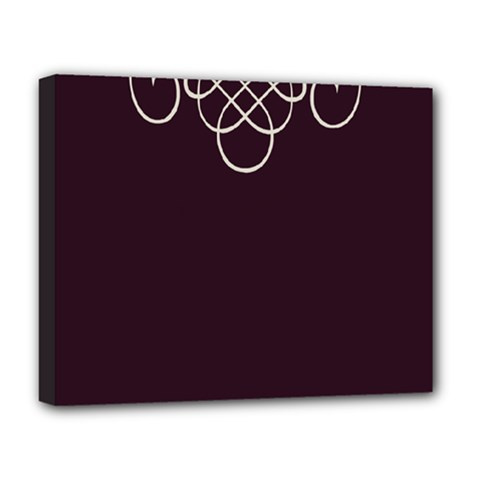 Black Cherry Scrolls Purple Deluxe Canvas 20  X 16   by Mariart