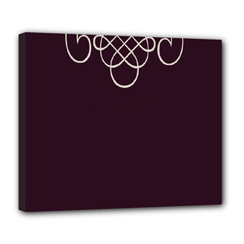 Black Cherry Scrolls Purple Deluxe Canvas 24  X 20   by Mariart