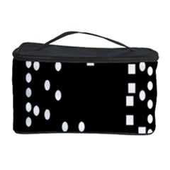Circle Plaid Black White Cosmetic Storage Case by Mariart