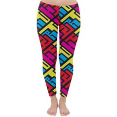 Color Red Yellow Blue Graffiti Classic Winter Leggings by Mariart