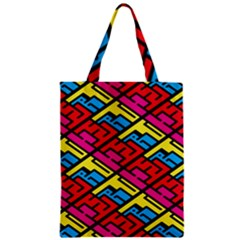 Color Red Yellow Blue Graffiti Zipper Classic Tote Bag by Mariart