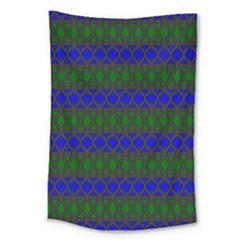 Diamond Alt Blue Green Woven Fabric Large Tapestry by Mariart