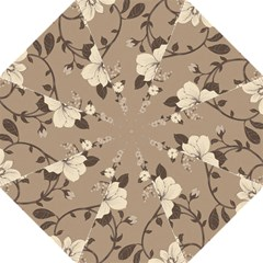 Floral Flower Rose Leaf Grey Straight Umbrellas by Mariart