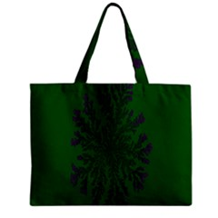 Dendron Diffusion Aggregation Flower Floral Leaf Green Purple Zipper Mini Tote Bag by Mariart