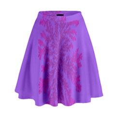 Dendron Diffusion Aggregation Flower Floral Leaf Red Purple High Waist Skirt by Mariart