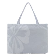 Hibiscus Sakura Glacier Gray Medium Tote Bag by Mariart