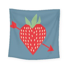 Fruit Red Strawberry Square Tapestry (small) by Mariart
